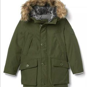 Gap Boys Large Warmest Winter Down Coat Army Green